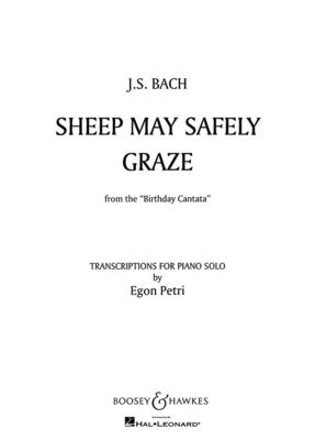 Sheep may safely graze Aria from cantata BWV 208 (Birthday Cantata) / Johann Sebastian Bach / Boosey and Hawkes