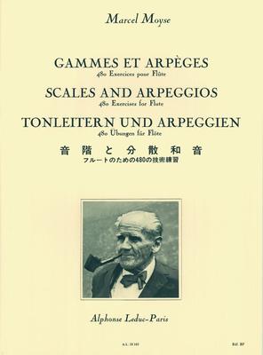 Gammes et Arpeges 480 Exercices pour Flûte / Marcel Moyse / Leduc