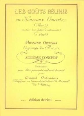 Concert n6 – flûte et piano / François Couperin / Edition Delrieu