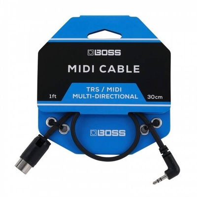 Boss BMIDI-1-35 – TRS To 5-Pin DIN Midi Cables, 1ft./30cm