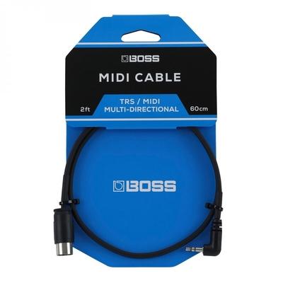 Boss BMIDI-2-35 – TRS To 5-Pin DIN Midi Cables, 2ft./60cm