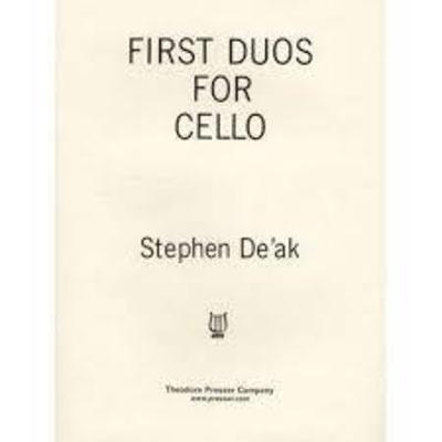 First Duos for cello / Stephen De'Ak / Theodore Presser