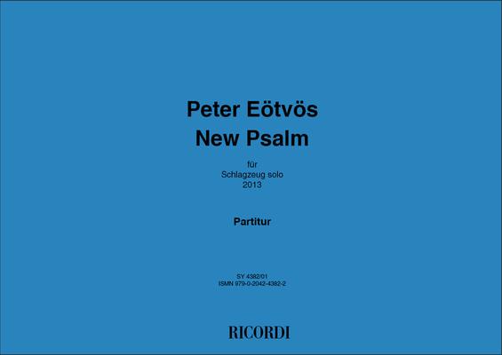 New Psalm für Schlagzeug / Péter Eötvös / Ricordi