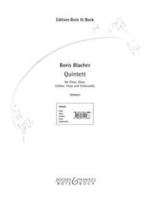 Quintet / Boris Blacher / Bote & Bock