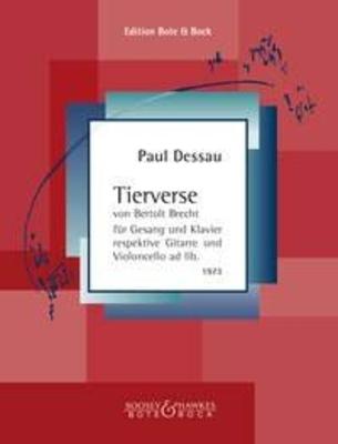 Tierverse von Bertolt Brecht / Paul Dessau / Bote & Bock