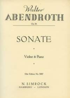Sonata op. 26 / Walter Abendroth / Simrock