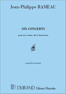 Six Concerts Transcrits En Sextuor Materiel / Jean-Philippe Rameau / Durand