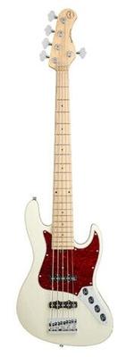Sadowsky MetroExpress 21-Fret Vintage J/J Bass, Maple Fingerboard, 5-String – Solid Olympic White High Polish
