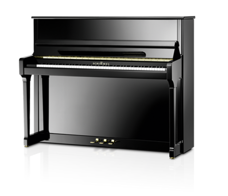 Schimmel C121 Tradition Classic noir poli brillant + Système silencieux TwinTone