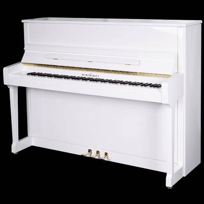 Schimmel C116 Tradition blanc poli brillant + Système silencieux TwinTone