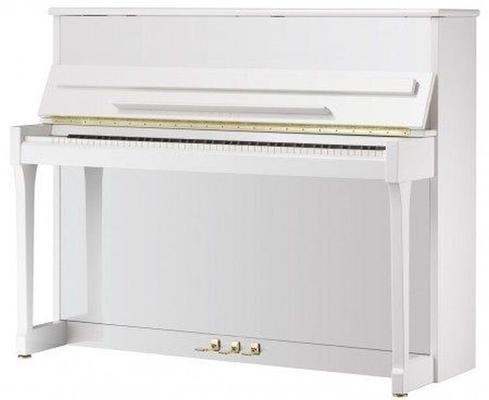 Schimmel C121 Elegance Manhattan Blanc poli brillant + Système silencieux TwinTone