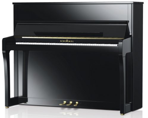Schimmel K122 Elegance Konzert noir poli brillant + Système silencieux TwinTone