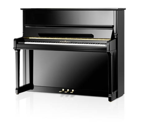 Schimmel K125 Tradition Konzert noir poli brillant + Système silencieux TwinTone