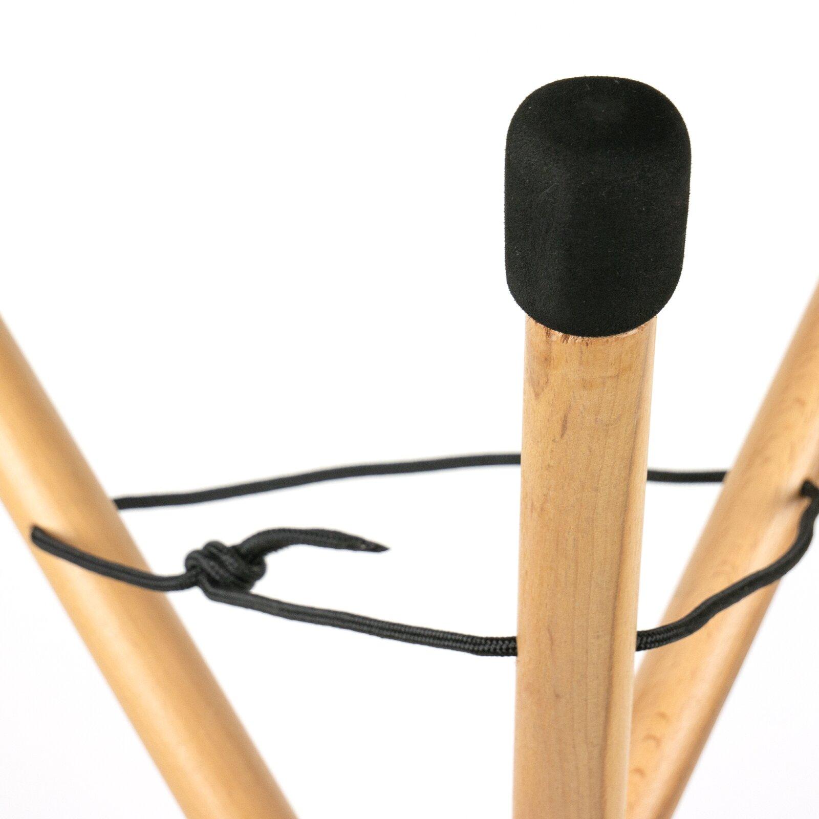 SELA Support de handpan pliable, réglable en hauteur, en bois de hêtre : photo 2