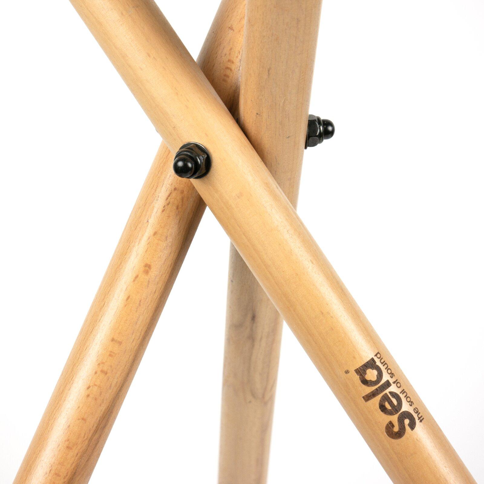 SELA Support de handpan pliable, réglable en hauteur, en bois de hêtre : photo 3