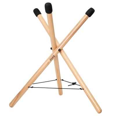 SELA Support de handpan moyen pliable, réglable en hauteur, en bois de hêtre