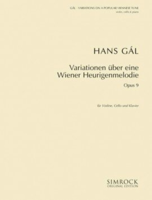 Variations op. 9 on a Viennese Popular Tune / Hans Gal / Simrock