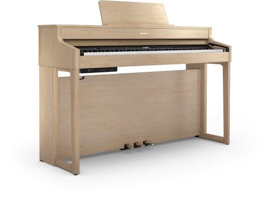 Roland HP702 LA Concert Class Piano light Oak + Piano Stand KSH704/2LA